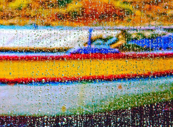 Boat in the Rain, © 2018 Helge Hasenau