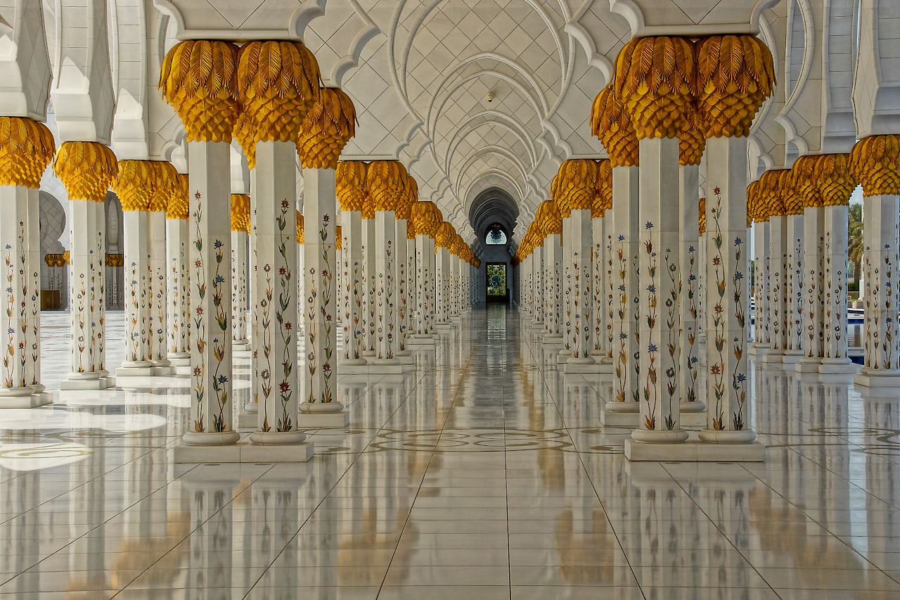 Grand Mosque Abu Dhabi, © 2018, Helge Hasenau